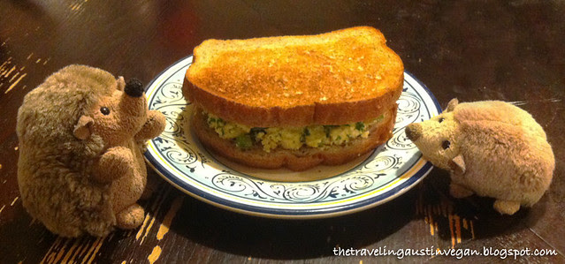 Hedgie & Buttercup's Tofu Salad Sandwich