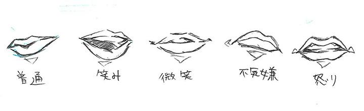 漫画イラストの描き方口を描き分けてみよう デジタルイラスト