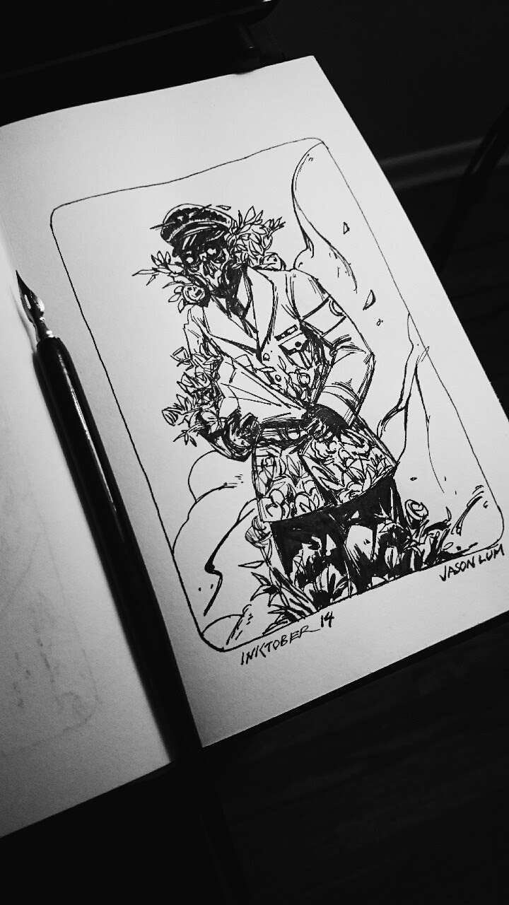 Inktober 14flowerss