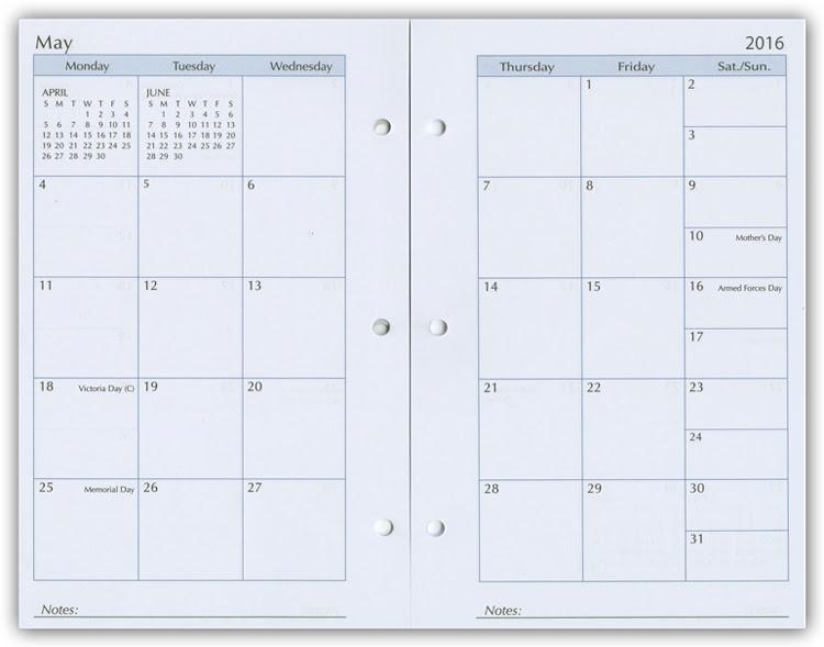 5 1/2 x 8 1/2 Organizer Refills, Weekly Planner Refill Inserts, 2017