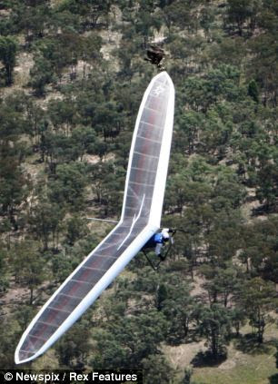 Fly like an eagle: Modern hang-gliders are capable of covering hundreds of miles by coasting on rising thermals