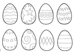 Easter Colouring Pages: Cracking Eggs Grommit!