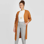 Women's Long Sleeve Cardigan - A New Day Rust