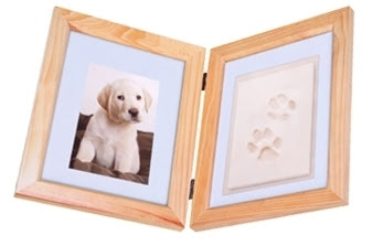 Pet Paw Print Keepsake Frame Kit 1999 Shipped 30 Reg Woof