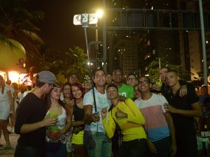 Recife pau de selfie (Foto: Luka Santos/G1)