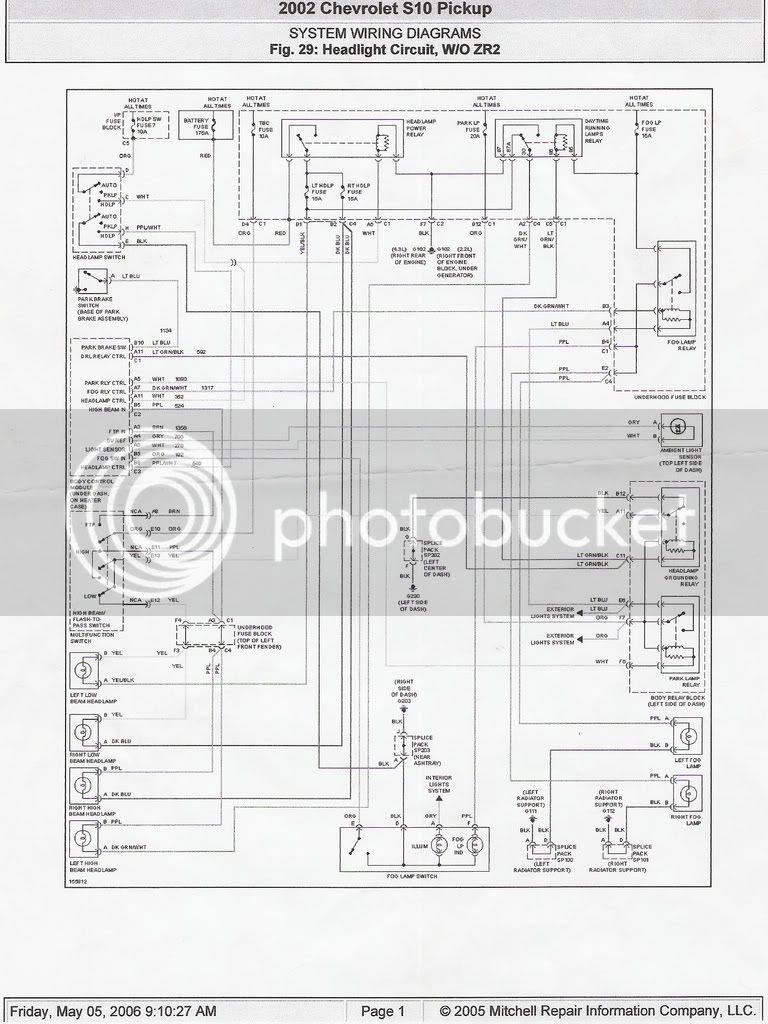 Chevy Metro Headlight Wiring Diagram