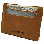 Walleteras Minimalist Card Holder in Crazy Horse Leather - Solo Sahara