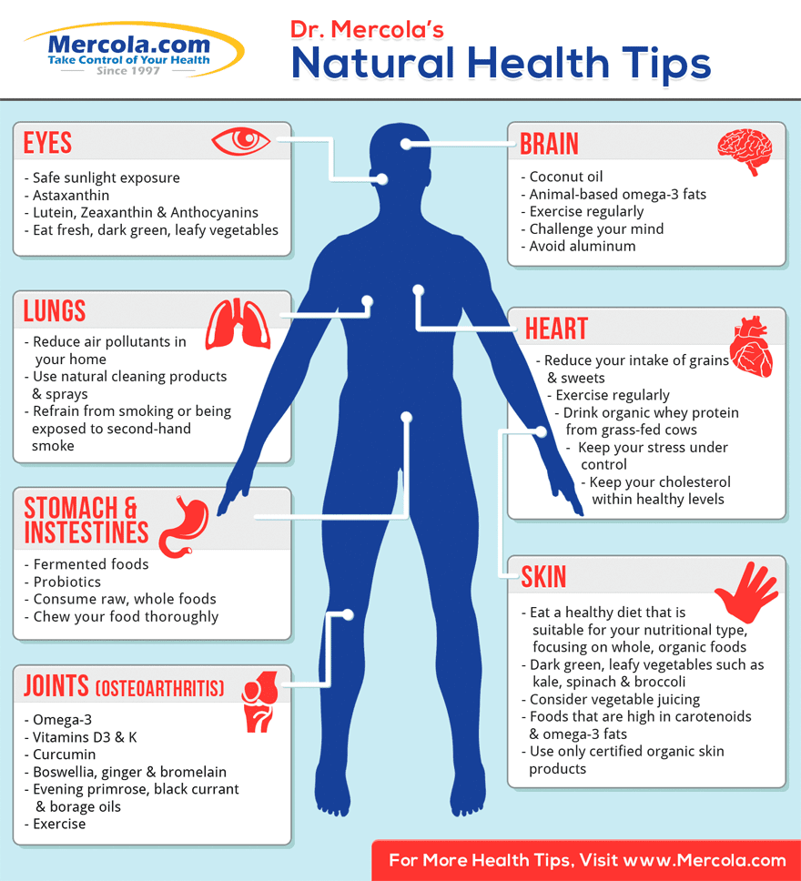 Natural Health Tips Infographic