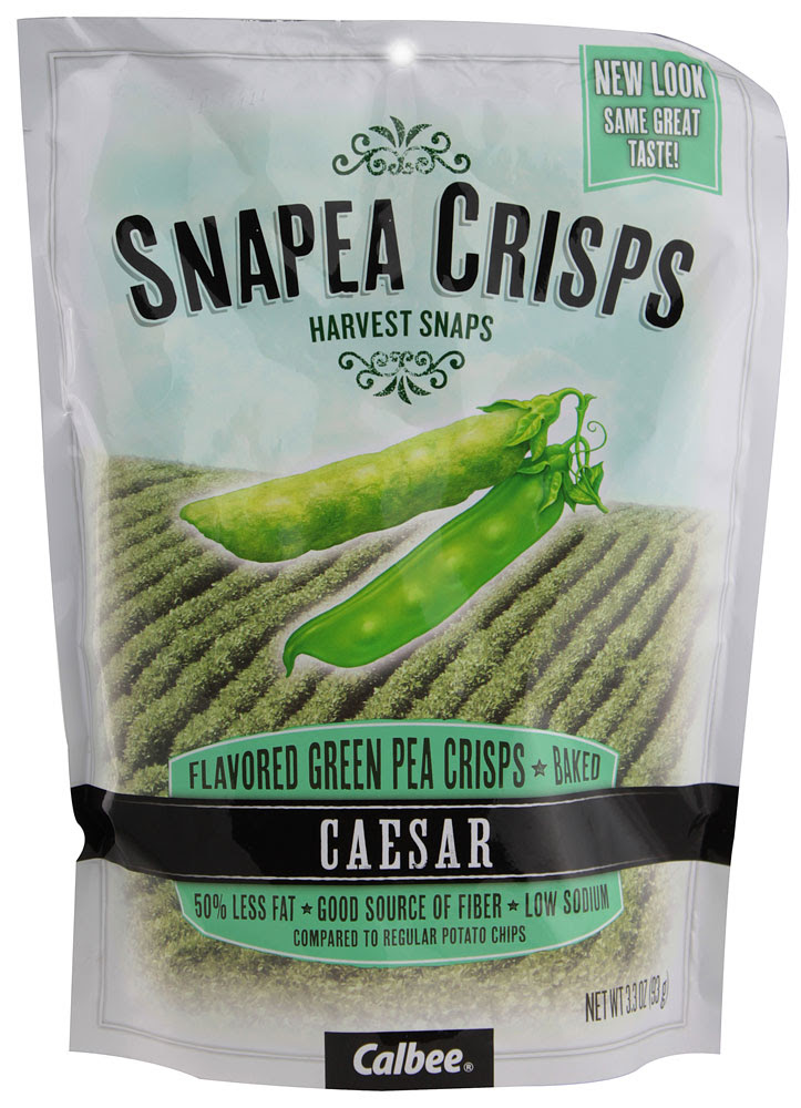 Harvest Snaps, SNAPEA CRISPS, Green Pea Crisps, Baked, Healthy Snack, Caesar
