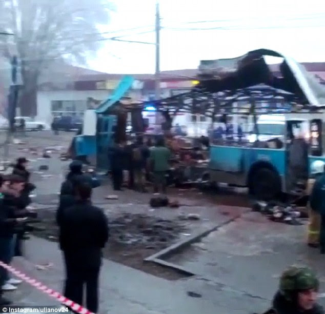 Suicide bombing: At least 10 passengers on a trolley bus have been killed in the Russian city of Volgograd
