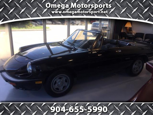 Used 1986 Alfa Romeo Spider Veloce convertible for Sale in Jacksonville FL 32246 Omega Motorsports