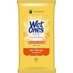 Wet Ones Antibacterial Hand Wipes Travel Pack, Tropical Splash, 20 Ct