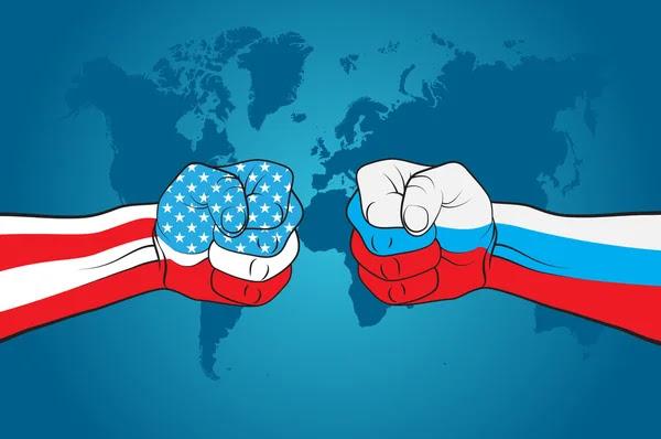 EUA contra Rússia — Vetor de Stock  #46597107