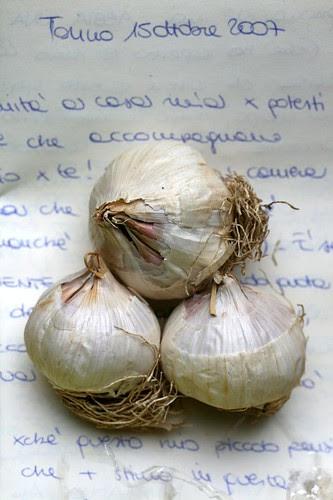 Lettera e aglio