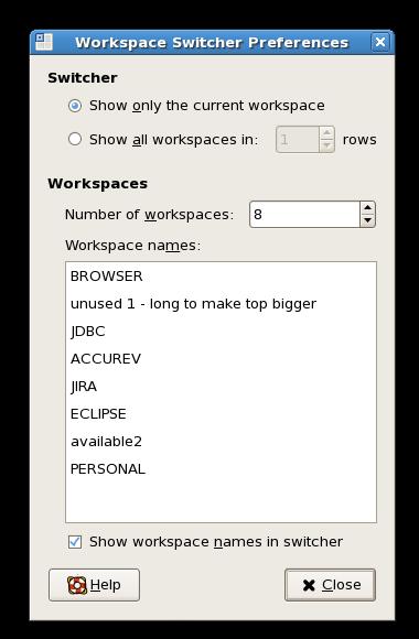 WorkspaceNames