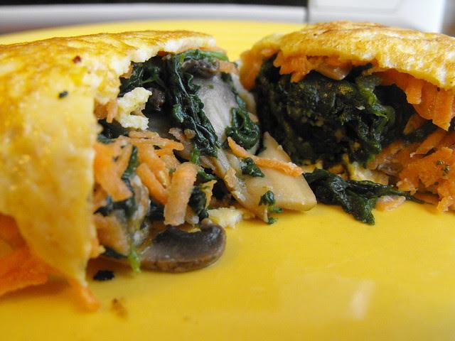 Tortilha de ovo com legumes
