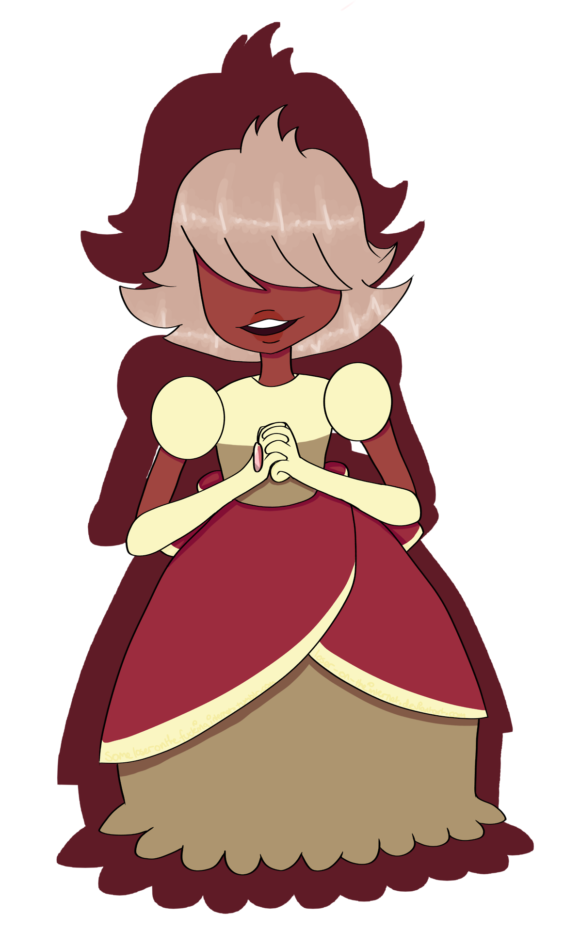 """decided to draw padparadscha, one of the newest gems! and i love her to bits omg usually i don't really draw fanart, but i really wanted to draw her, so here you go qwq i'll try to post more often,..."