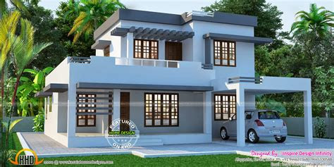 beautiful flat house exterior kerala home design