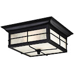Westinghouse 6204800 Orwell Two Light Outdoor Flush Fixture Textured Black
