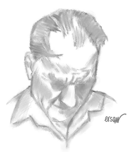 Atatürkün Resmi Karakalem