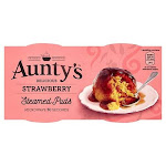 Aunty'S Strawberry Steamed Puddings 2X95G By British Food Supplies