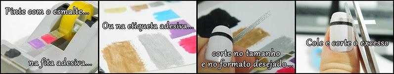 Como fazer adesivo para unhas decoradas nail art DIY