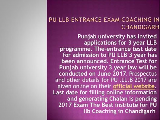 Pu llb entrance exam coaching in chandigarh