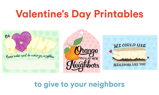 Valentine's Day Printables to Show Your Neighbors Some Love