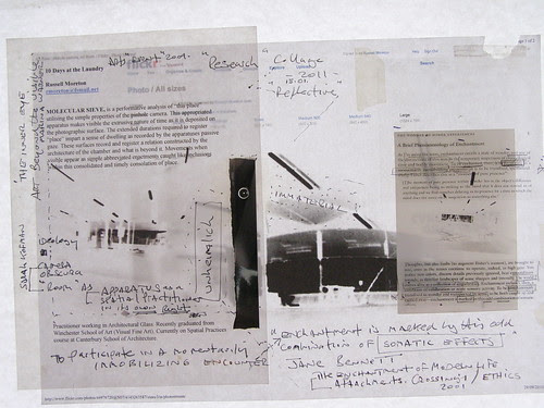 Research Collage : Pinhole Photography, full page. 15.01.2011 by Russell Moreton