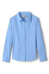 14bb8a5c9eed00 Girls Long Sleeve Stretch No Gape Shirt-Light Sea Blue