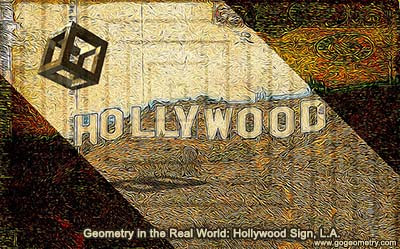 Geometry in the Real World: Hollywood Sign, L.A.