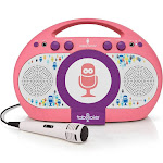 Singing Machine - Tabeoke Portable Bluetooth Karaoke System - Pink/Purple