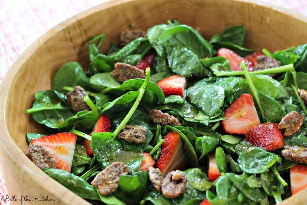 Belle of the Kitchen   Strawberry & Spinach Salad with Poppy Seed Dressing