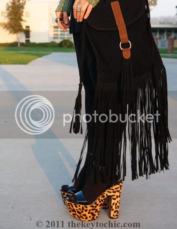 fringe handbag, Steve Madden Shazzam leopard heels, Los Angeles fashion blogger