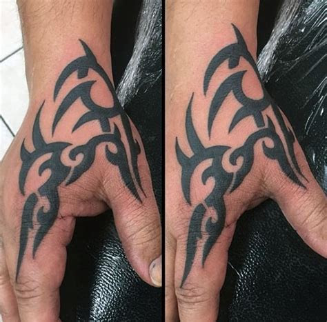 tribal hand tattoos men manly ink design ideas