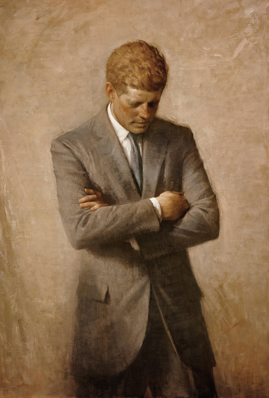 Image result for jfk portrait white house