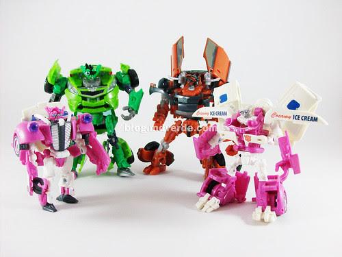 Transformers Mudflap RotF Deluxe vs Skids vs Ice Cream Truck - modo robot