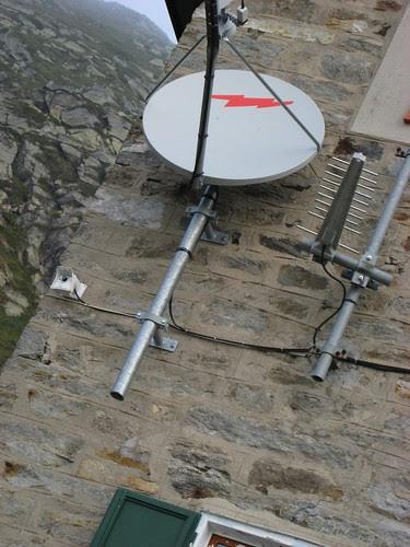 la web cam e l'antenna del rifugio