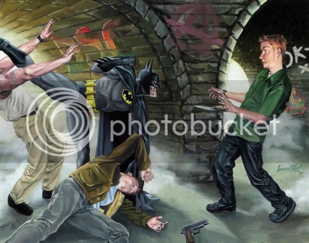 Painting,Graeme Neil Reid,Illustration,Batman