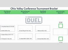 Ohio Valley Conference Tournament Printable Bracket   theduel