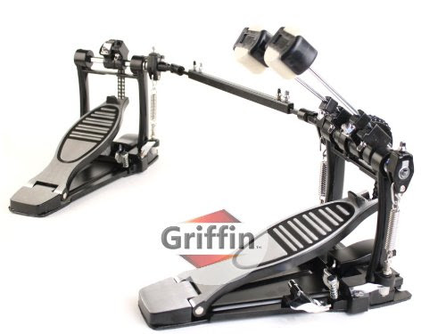 bass drum accessories double bass drum kick pedal by griffin. Black Bedroom Furniture Sets. Home Design Ideas