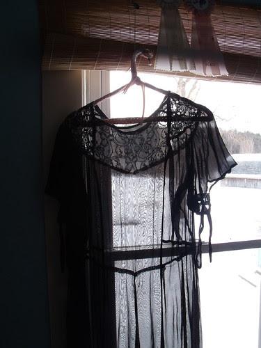 black 20s dress