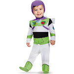 Disney Toy Story Buzz Lightyear Deluxe Infant Costume, 6-12 months, Multi-colored