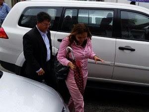 Médica agredida por candidao ao senado é ouvida pela primeira vez oficialmente (Foto: Larissa Bastos/Gazetaweb)