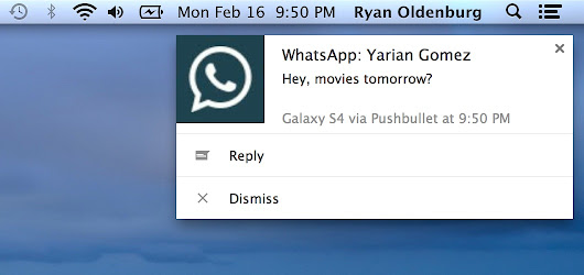 Reply To WhatsApp, Hangouts, And More From Your Computer With Pushbullet On Android