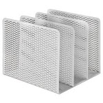 Urban Collection Punched Metal File Sorter, Three Sections,White (AOPART20009WH)