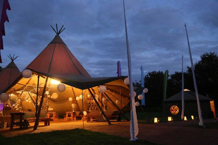 Tipi Interior - Festival Wedding Inspiration