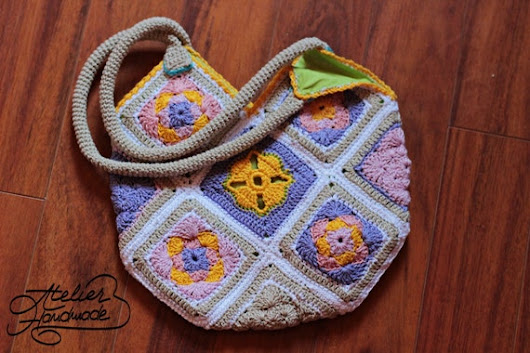 Crochet Shoulder Purse. Boho Summer Crochet by AtelierHandmadecom