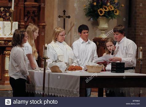 Youth led Communion ceremony at Saint Martin's Lutheran