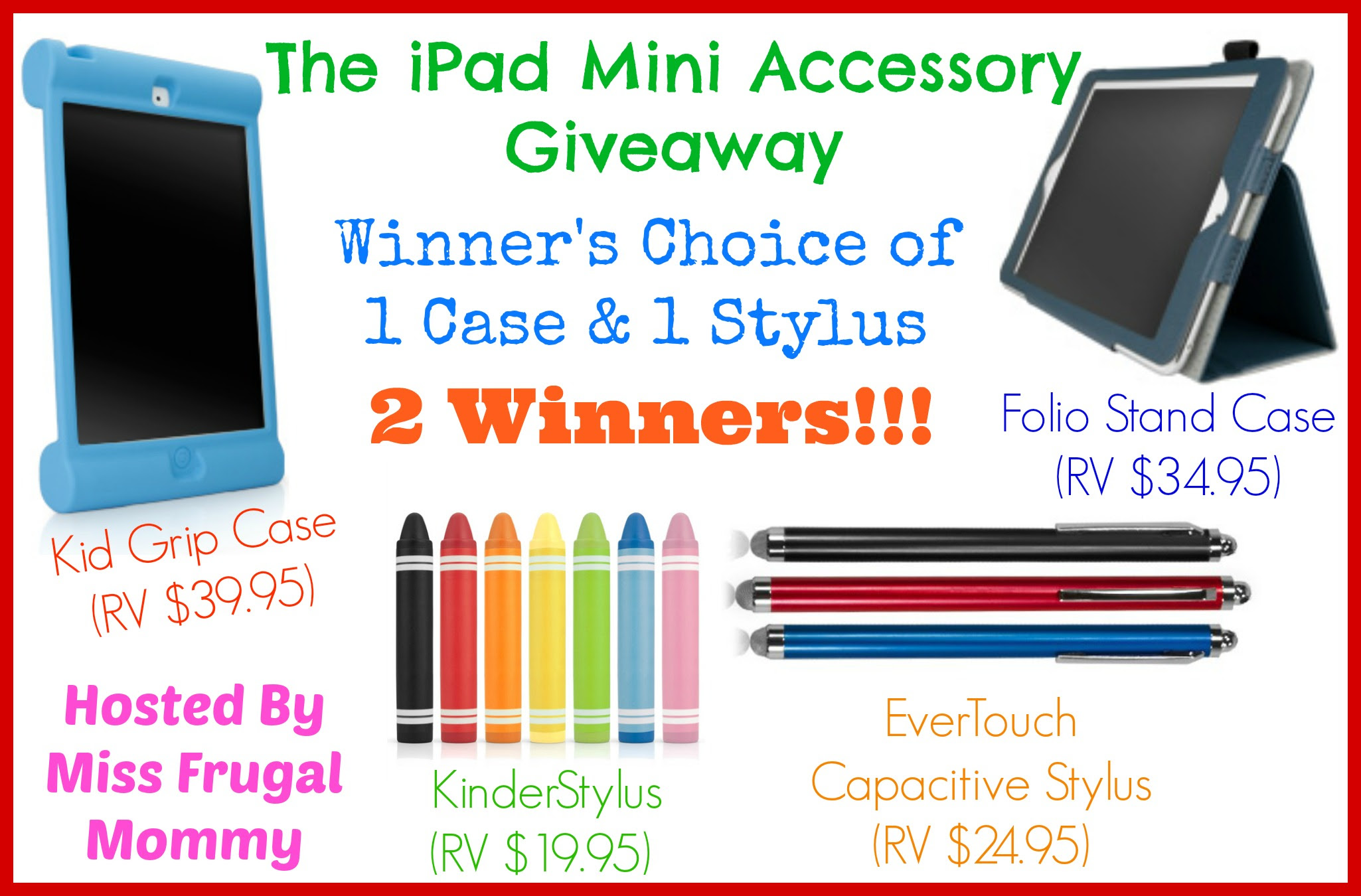 Enter to win the iPad Mini Accessory Giveaway. Ends 3/29.